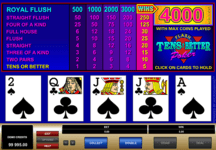 2016 Microgaming Video Poker example of